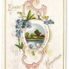 Horseshoe landscape Embossed Vintage Easter Postcard 1910
