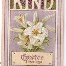 Lilies Embossed Vintage Easter Postcard
