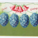 Forget me Not Eggs Vintage Easter Postcard