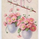 Spring Flowers in Eggs Embossed Vintage Easter Postcard