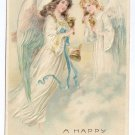 Angels Handbells Embossed Vintage Easter Postcard 1908