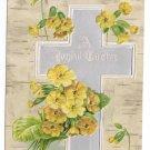 Silver Cross Flowers Embossed UND Vintage Easter Postcard 1908