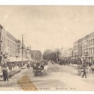 Bath NY Liberty Street Litho 1910 RPO Horse and Carriage
