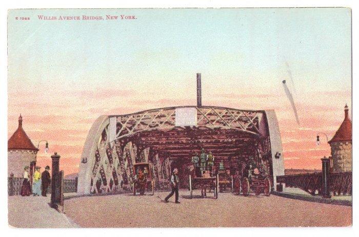 Willis Avenue Bridge NY Langdorf ca 1906