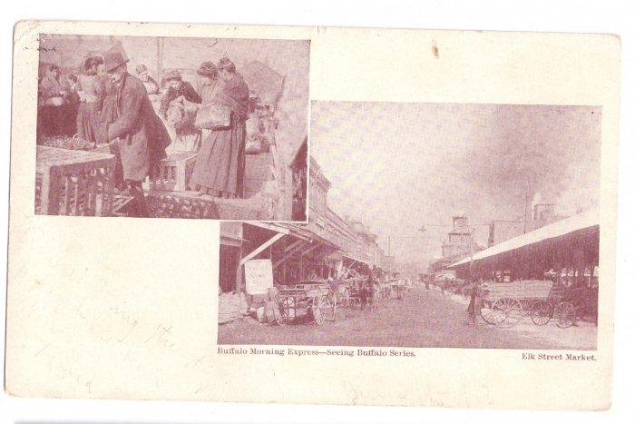 Buffalo NY Elk Street Market UND 1913 Buffalo Morning Express