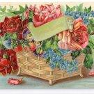 Embossed Roses Vintage Birthday Postcard