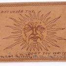 Vintage Leather Postcard 1906 Concord NH Sun