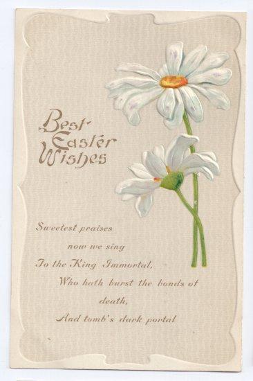 Embossed Vintage Easter Postcard Daisies