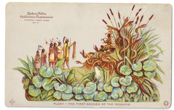 Hudson Fulton 1909 Float First Sachem of the Iroquois Official Card no. 7 Redfield
