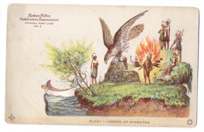 Hudson Fulton 1909 Float Legend of Hiawatha Official Card no. 5 Redfield
