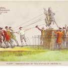 Hudson Fulton 1909 Float Destruction of Statue George III Official Card no. 31 Redfield