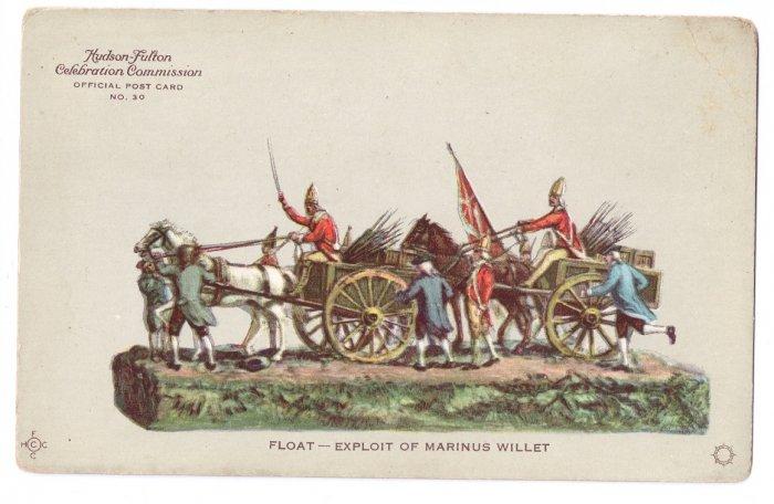 Hudson Fulton 1909 Float Exploit of Marinus Willet Official Postcard no. 30 Redfield