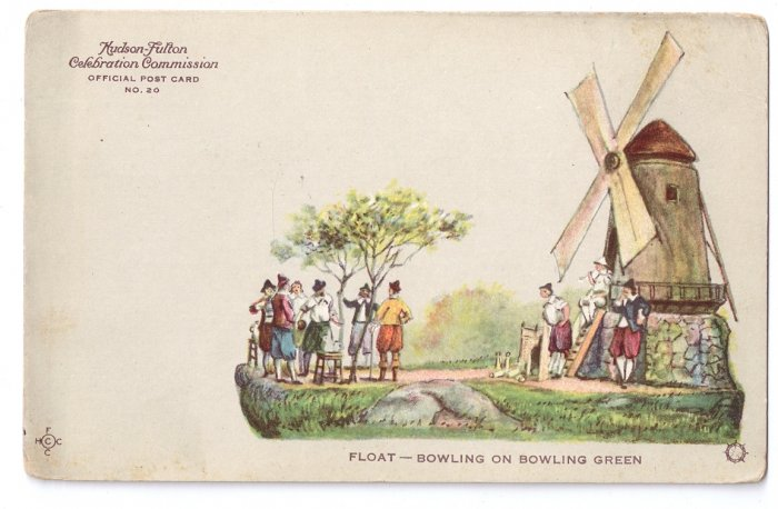 Hudson Fulton 1909 Float Bowling Green Official Postcard no. 20 Redfield