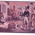 Clermont Dock Landing Vintage Magenta Tinted Postcard