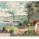 Hudson Fulton Clermont Steamboat Vintage 1909 Embossed Postcard