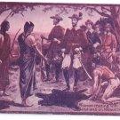 Hudson Trading W Indians Manhattan Vintage Magenta Tinted Postcard