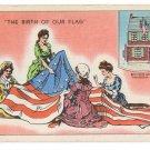 Betsy Ross American Flag Vintage Linen Patriotic Postcard