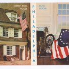 Betsy Ross House American Flag Philadelphia Patriotic postcard