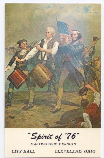 Spirit of '76 Painting Cleveland Bedford Ohio Bicentennial Patriotic Postcard