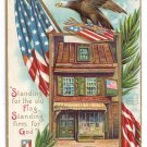 Betsy Ross House American Flag Eagle Chapman Embossed Gilt IAP Patriotic Postcard