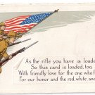 WWI Embossed Soldiers Flag Vintage Arts & Crafts Patriotic Poem Postcard