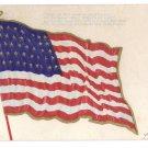 Star Spangled Banner Embossed Flag Vintage Patriotic Poem Postcard