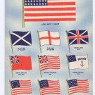 American Flag Vintage Patriotic Postcard Fred Harvey 1943 Old Glory
