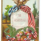 Memorial Decoration Day Embossed Eagle Flag Vintage Patriotic Postcard
