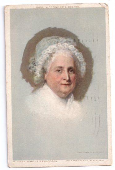 Martha Washington Stuart Portrait Vintage Patriotic Postcard