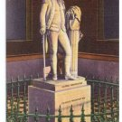 George Washington Houdon Statue Richmond VA Vintage Patriotic Postcard