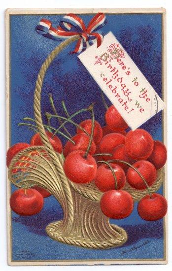 Clapsaddle George Washington's Birthday Embossed Gilt Vintage Patriotic Postcard