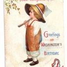 Clapsaddle Washington's Birthday Embossed Vintage Patriotic Postcard