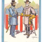Bunnell Decoration Day Lounsbury 1908 Lee and Grant Vintage Patriotic Postcard