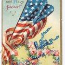 Clapsaddle Patriotic Army Navy US Flag 1908 Vintage Postcard