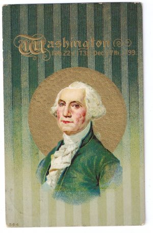 George Washington Birthday Vintage Patriotic Postcard