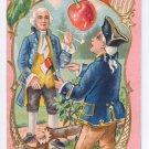 George Washington Cherry Tree Embossed Vintage Patriotic Postcard