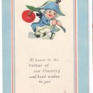 George Washington's Birthday Vintage Arts and Crafts Patriotic Postcard