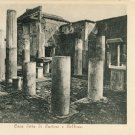 Pompeii Italy Vintage Postcard UND House of Castor and Pollux