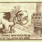 Lost Dog Reward Vintage Postcard 1911