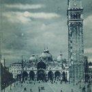 Venice Piazza e Basilica di S Marco Cathedral UND Vintage Postcard Italy