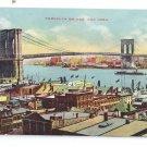 Brooklyn Bridge Vintage Postcard New York ca 1910