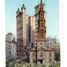 St Pauls Church New York ca 1910 Photostint NM Vintage Postcard
