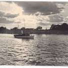 Moonlight St lawrence River Thousand Islands NY ca 1910 Rotograph Postcard