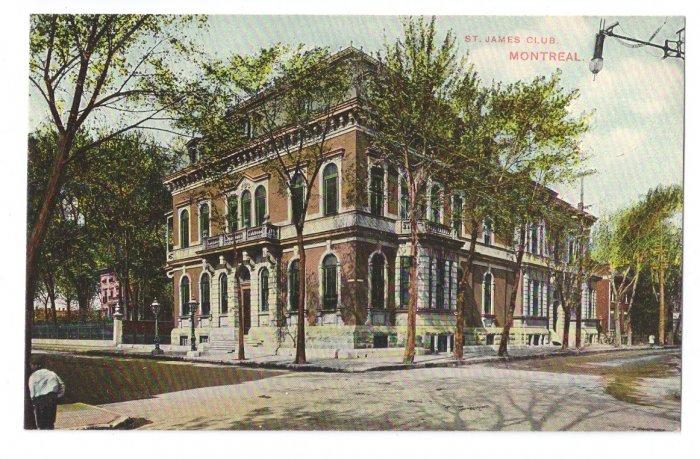 St. James Club Montreal ca 1910 Vintage Postcard EXC