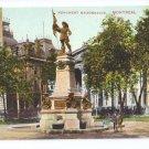 Monument Maisonneuve Montreal ca 1910 Vintage Postcard