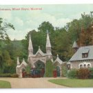 Cemetery Entrance Mount Royal Montreal ca 1910 Vintage Postcard