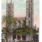 Notre Dame Church Basilica Montreal ca 1910 Vintage Postcard