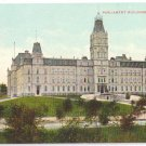 Parliament Quebec Canada c 1910 Vintage Postcard