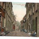Little Champlain Street Quebec Canada c 1910 Vintage Postcard NM
