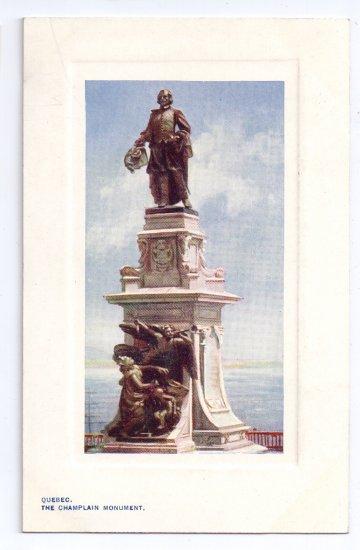 Tuck Oilette Champlain Monument Quebec Canada c 1910 Vintage Postcard NM